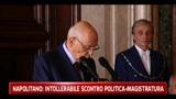 Intercettazioni, Napolitano: si usino quando indispensabile
