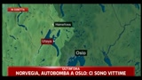 Norvegia, autobomba a Oslo, ci sono vittime