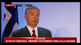 Attacchi Norvegia, Premier Stoltenberg parla alla nazione