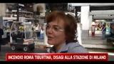 Incendio Roma Tiburtina, disagi alla stazione di Milano