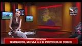 Terremoto di scossa 4,3 in provincia di Torino