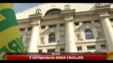 Crisi, Coldiretti protesta con maiali a Piazza Affari