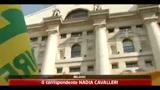 Crisi, Coldiretti protesta con maiali in Piazza Affari