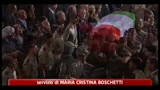 Funerale Tobini, dolore di familiari e commilitoni