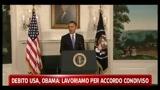 Debito Usa, Obama: lavoriamo per accordo condiviso