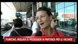 30/07/2011 - Fiumicino, migliaia di passeggeri in partenza per le vacanze