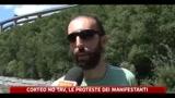 Corteo No Tav, le proteste dei manifestanti