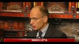 Crisi, Enrico Letta: Berlusconi  il problema del paese