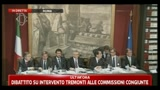 Bersani alle commissioni riunite