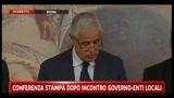 Formigoni: conferenza stampa dopo incontro governo-enti locali