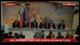 Graziano Delrio: conferenza stampa dopo incontro governo-enti locali