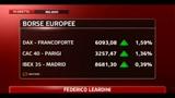 Positivi i mercati in Europa, maglia rosa Francoforte