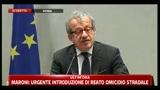 2 - Conferenza sicurezza, Maroni: dopo accordo con Tunisia netto calo sbarchi