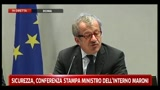 1 - Conferenza sicurezza, Maroni: notevole incremento sequestri e confische