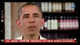 Usa, Obama: colpa del Congresso che frena ripresa economica
