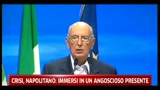 Crisi, Napolitano: immersi in un angoscioso presente