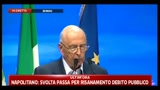 Crisi, Napolitano: serve impegno categorico contro evasione