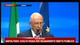 Crisi, Napolitano: serve impegno categorico contro evasione
