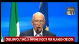 Crisi, Napolitano, si impone svolta per rilancio crescita