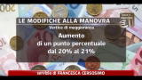 Manovra, contributo 3% redditi oltre 300mila euro