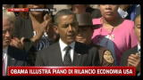 Obama illustra piano di rilancio economia USA