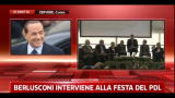 Berlusconi interviene alla festa del PDL