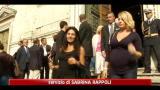 29/09/2011 - Funerali Mirigliani, le miss lo ricordano con affetto