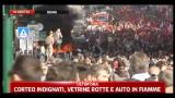 15/10/2011 - Indignati a Roma, tensione in via Cavour