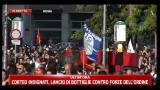 15/10/2011 - Corteo Indiganti, carica forze dell'ordine