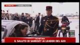 Il saluto di Sarkozy ai leader del G20