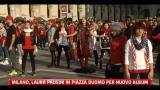 Milano, Laura Pausini in Piazza Duomo per nuovo album