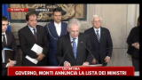 Governo, Mario Monti annuncia la lista dei Ministri