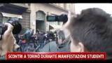 Scontri a Torino durante manifestazioni studenti