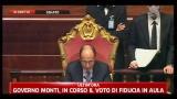 Fiducia Governo Monti, Schifani legge l'esito