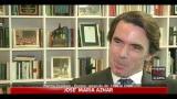 Aznar, non condivido l'idea di un governo non politico