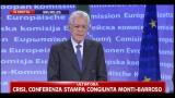 """Monti: """"L'Europa sarà al centro della nostra azione"""""""