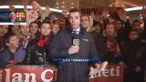 Milan-Barcellona, i tifosi in attesa fuori dal Meazza