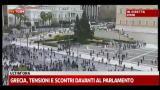 Grecia, tensioni e scontri davanti al parlamento