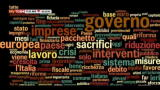 La tag cloud della manovra