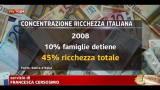 Bankitalia, ricchezza famiglie -1,5% 2010
