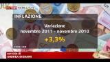 Istat, inflazione al 3,3% a novembre