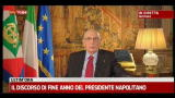 Il discorso di fine anno del Presidente Napolitano