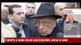 Morte Scalfaro, le parole di Giorgio Napolitano