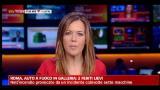 Roma auto in fiamme in galleria: 2 feriti lievi
