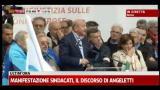 Manifestazione sindacati, il discorso di Angeletti