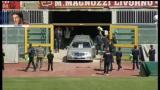 17/04/2012 - Morte Morosini, l'ingresso del feretro all'Armando Picchi