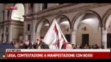 27/04/2012 - Lega, contestazione a manifestazione con Bossi