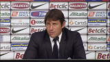 Antonio Conte nel postpartita di Juve-Atalanta