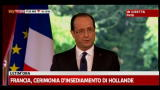 Francia, insediamento Hollande: il primo discorso