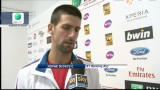 17/05/2012 - Internazionali, Djokovic ai quarti ma..rompe la racchetta